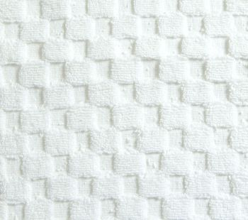 Luxurious linenHall, 850gsm 100% Cotton Reversible Bath Mat in White